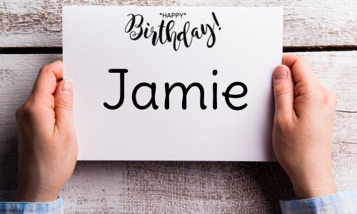Jamie bday
